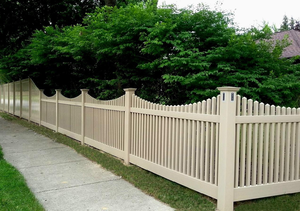 Vinyl fence Brown Hoover Fence Co Vinyl Fences